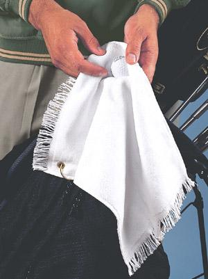 Grommeted Finger Tip Towel