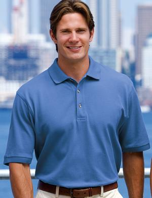 Heavyweight Cotton Pique Polo Shirt
