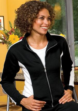 Sport-Tek - Ladies Two-Tone Fleece Jacket