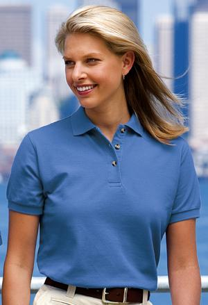 Ladies Pique Knit Sport Shirt