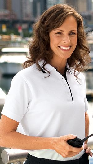 Ladies Pinpoint Knit Sport Shirt