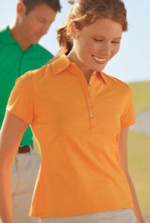 Signature - Ladies Pima Cotton Fine Knit Sport Shirt