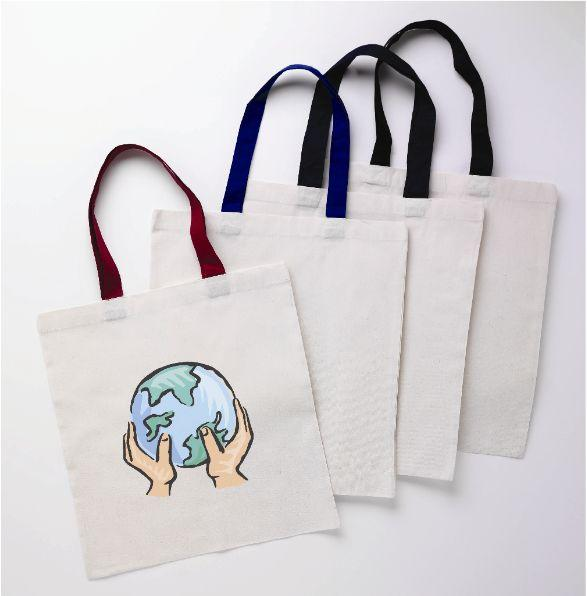 Color Handle Tote Bag