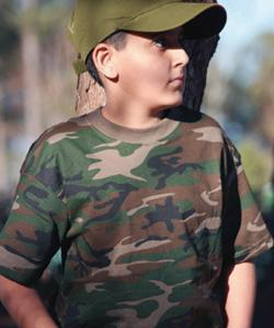 100% Cotton Camouflage T-Shirt Youth