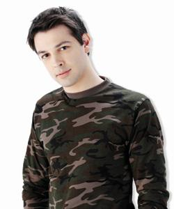 100% Cotton Long Sleeve Camouflage T-Shirt