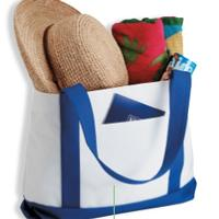 Shopping Tote Bag With Contrasting Color