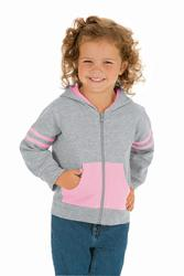 Toddler Zip Hood w/ Contrasting Stripes