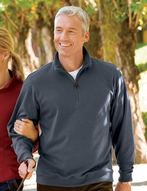 Pima Interlock 1/4 Zip Pullover