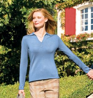 Ladies Fine Gauge Silk Sweater