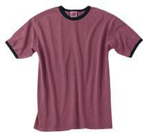 Short Sleeve Garment-Dyed Ringer T-Shirt