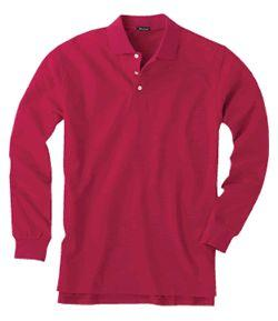 Long-Sleeve Pima Cotton Sport Shirt for Men