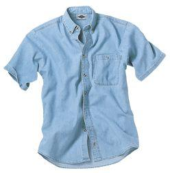 100% Cotton Denim or Twill Short-Sleeve Shirts