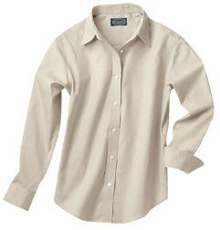 Ladies' Wrinkle-Free Pinpoint Dress Shirt