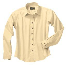 Ladies' Easy-Care Long-Sleeve Shirt With Button-Down Collar