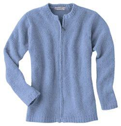 Ladies' Micro-Chenille Zip-Front Cardigan