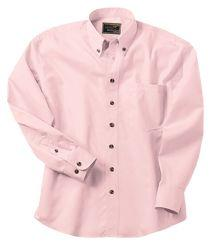 4.5 oz. Mens Easy-Care Long-Sleeve Shirt With Button-Down Collar