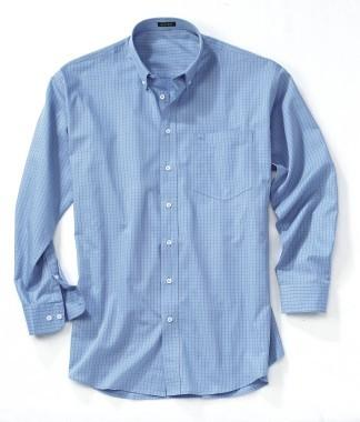 Men's Easy-Care Check Long-Sleeve Shirt