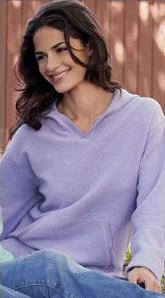 Ladies' Sueded Terry Hoody