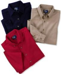 Men's Long Sleeve Tall Twill Shirt