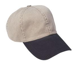Pigment Dyed Twill Cap with Contrasting Bill