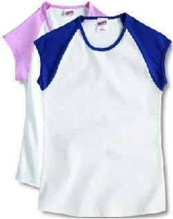 Juniors' Vintage Cap Sleeve Tee