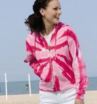 Ladies' Tone-on-Tone Full-Zip Tie-Dye Hooded Sweatshirt