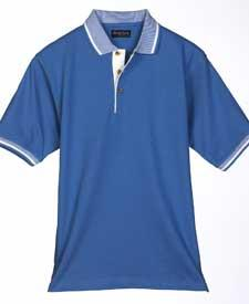Adult Pique Color-Body Classic Polo with Contrasting Multi-Stripe Trim