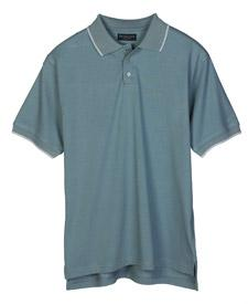 Men's Cool-N-Dry Color-Body Jersey Polo with Striped Trim