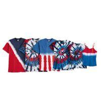 Youth Patriotic multi Cut-Spiral S/S Tie-Dye Shirt