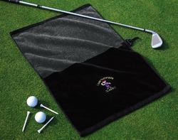 Premier Tri-Fold Jacquard Golf Towel with Center Hook