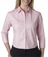 Ladies' Stretch Poplin 3/4-Sleeve Blouse