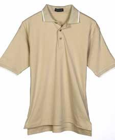 Men's Egyptian Interlock Polo with Tipping