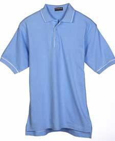 Men's Egyptian Pima Textured Tonal-Stripe Polo with Tipping