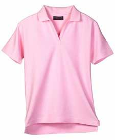 Ladies' Luxury Double Pique Short-Sleeve V-Neck Polo