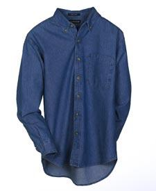 Men's Tall Cypress Denim Long-Sleeve Shirt