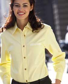 Ladies' Sanded Gabardine Long-Sleeve Shirt
