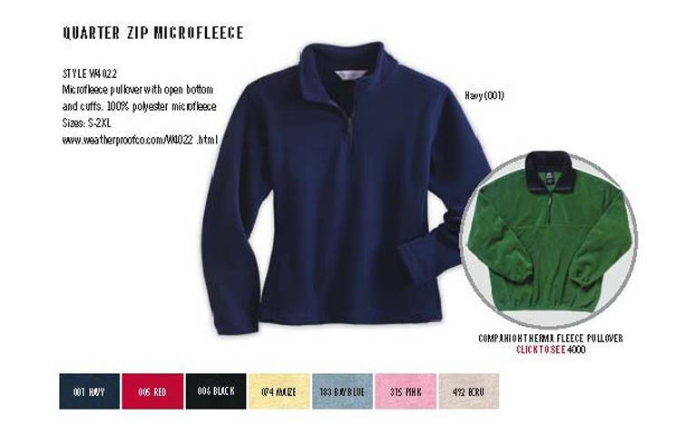 Quarter Zip Microfleece