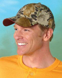 Bow Hunter's Camo Cap with Tipped Brim
