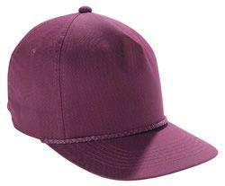 Poplin Cap with Heavy Braid