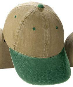 Pigment-Dyed Washed Two-Tone Twill Cap