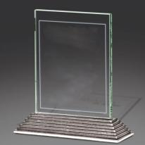 Gilded Silver Base with Jade Glass - Medium