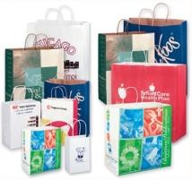 White Kraft Paper Shopper Large Quantity