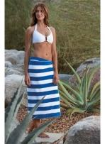 Cabana Stripe Beach Towel- Blank