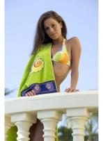 Jacquard Beach Towel With Stock Applique Icons