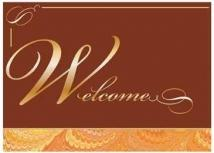 Gold Foil Welcome