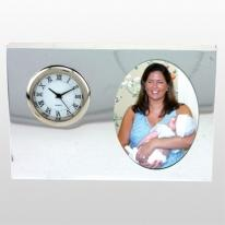 Polished Silver Picture Clock
