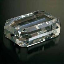Gemstone Emerald Cut Optical Crystal Paperweight