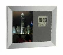 "31/2""H x 5""L Photo Frame, Calendar, Thermometer & Clock"