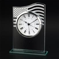Flag Glass Clock