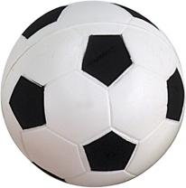 Soccer Ball Squeezie Stress Reliever - White/Black